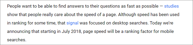 SEO tips page loading speed