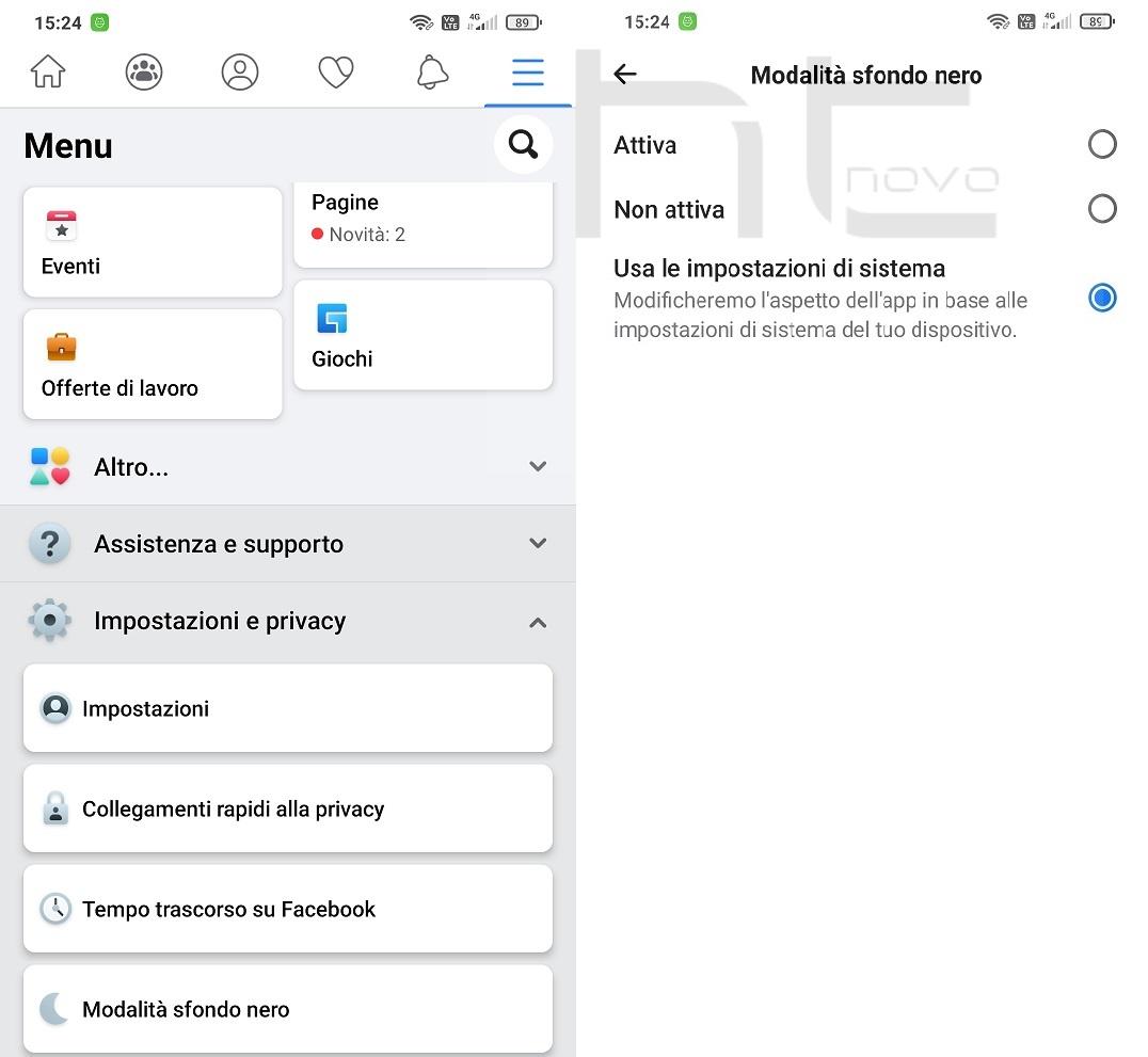 Come attivare il Tema scuro di Facebook su Android e iOS