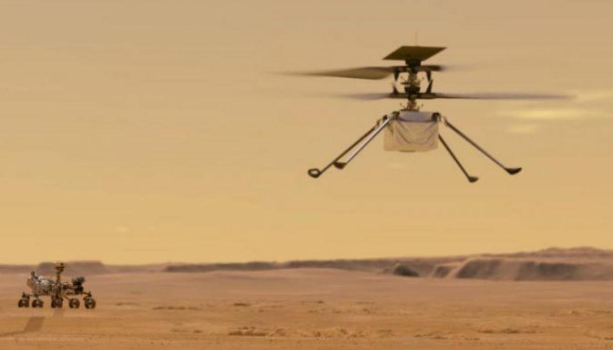 ناسا تجري أول محاولة لطيران مروحية في أجواء المريخ قريباً