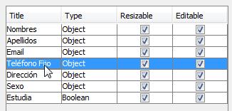 Seleccionando la columna a modificar