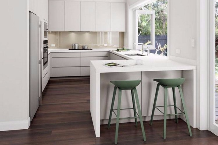 Minimalist Kitchen Design with Desk and Chair Barpinterest.com