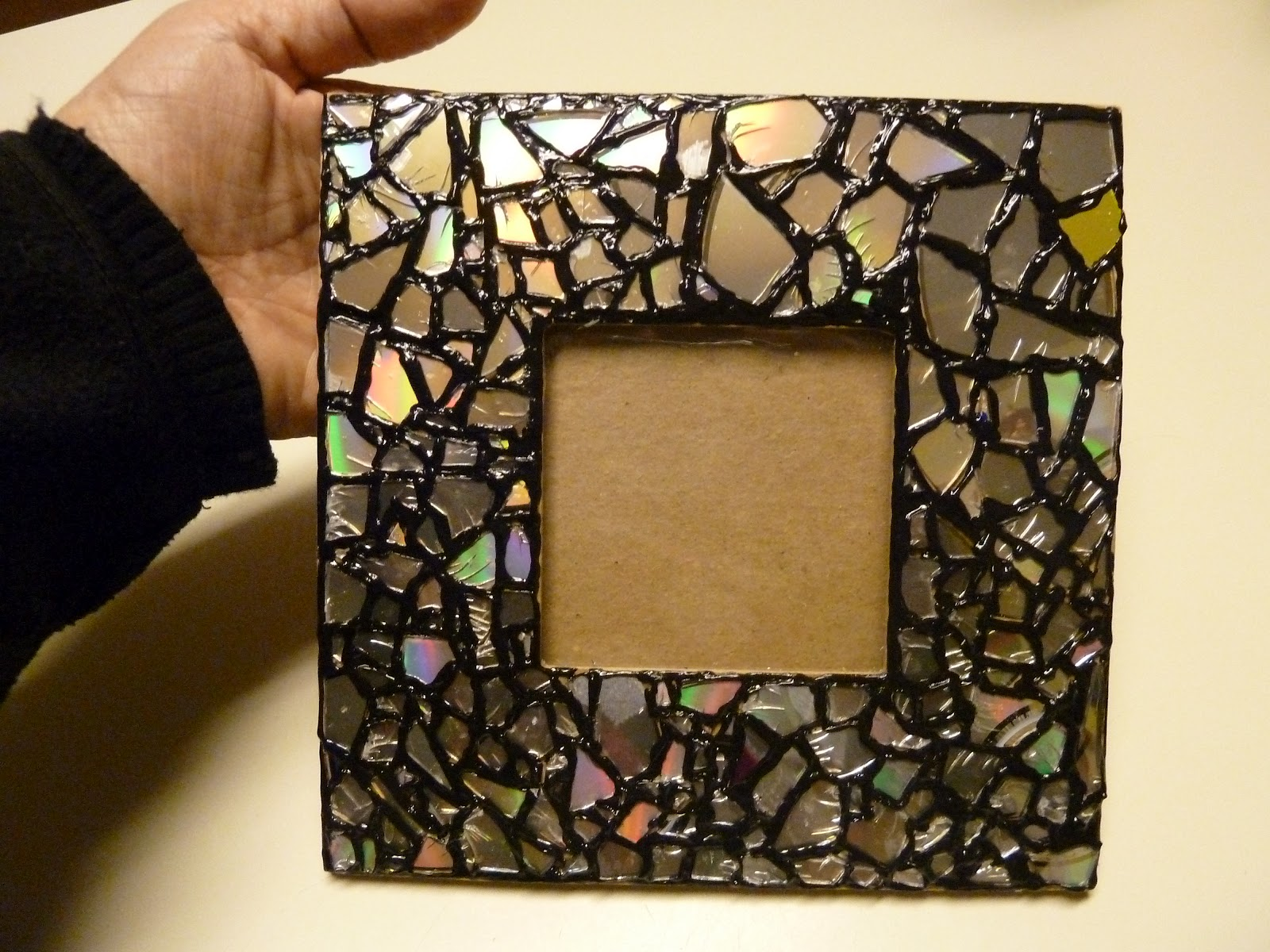 Make It Easy Crafts Recycled Cd Mosaic Photo Frame