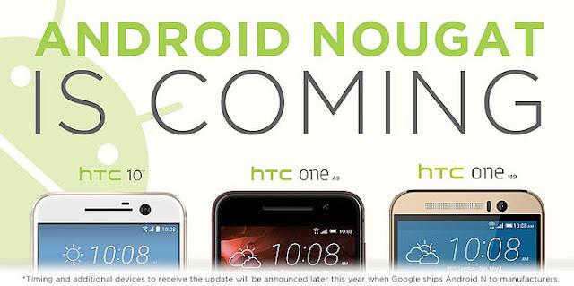 HTC konfirmasikan HTC 10, One A9 dan One M9 akan mendapatkan update Android Nougat
