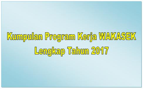 Kumpulan Program Kerja Lengkap Terbaru Semua Jenjang 2017/2018