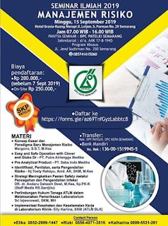 Seminar Ilmiah DPC PATELKI Kota Semarang 2019 | Manajemen Resiko