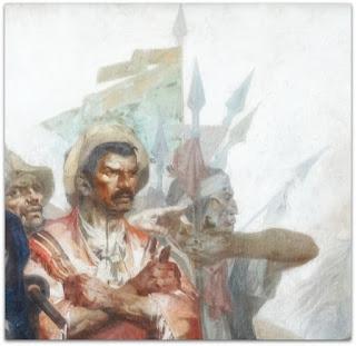 """O Gaúcho e O Índio - """"Formação do Rio Grande do Sul"""" - Aldo Locatelli (1960), Teatro do Sesi, FIERGS, Porto Alegre"""