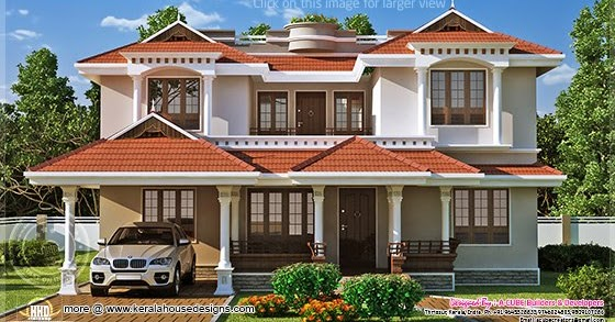 Beautiful home exterior in 2446 square feet   House Design ... on Beautiful Home Decor  id=71137