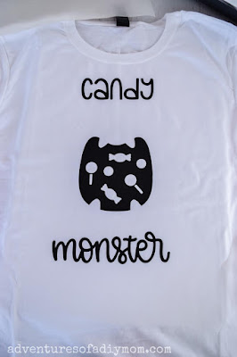black vinyl for candy monster shirt