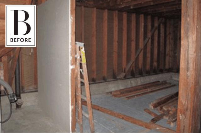 Cómo reformar un garaje para convertirlo en hogar, estado anterior
