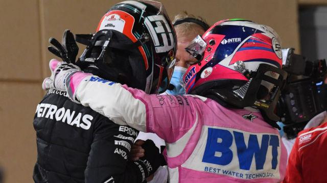 George Russel i Sergio Perez F1 Sakhir Grand Prix 2020
