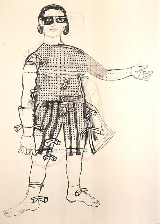 Hannah van Bart  Gladiator, 2004 Graphite on paper 141 x 100.3 cm