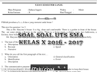 Download Contoh Soal UTS SMA Kelas X Terbaru 2016/2017
