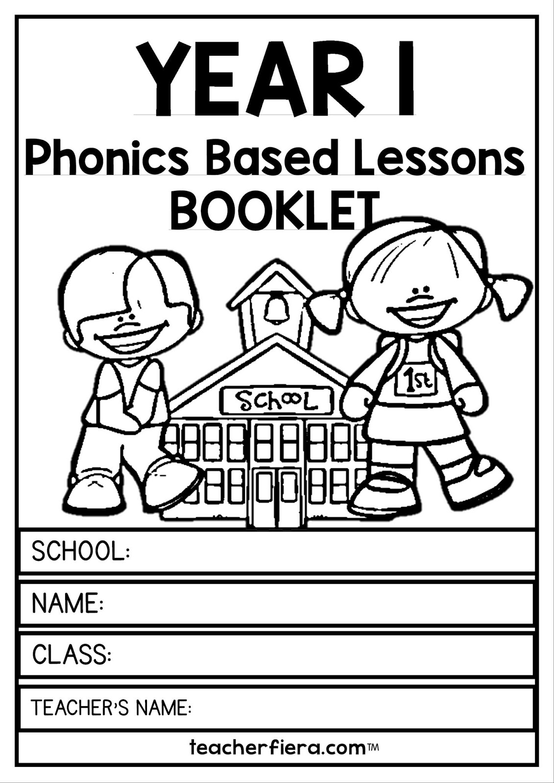 Teacherfiera Year 1 Phonics Based Lessons Booklet