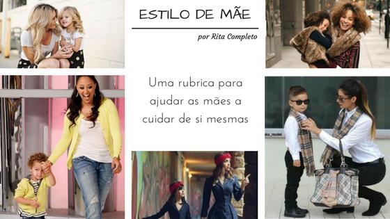 Imagem ilustrativa (cabeçalho do post) Várias imagens de mães vestidas de forma semelhante aos seus filhotes