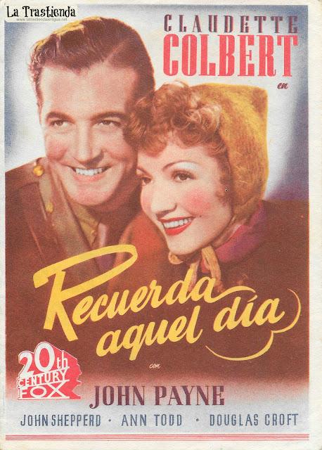 Recuerda aquel Día - Programa de Cine - Claudette Colbert - John Payne