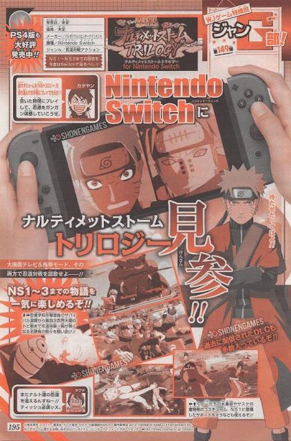 Se anuncia Naruto Shippuden: Ultimate Storm Trilogy para Nintendo Switch,