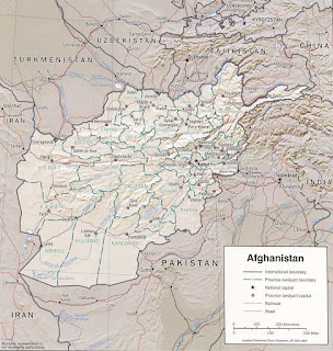 Picture of Afghanistan map in 2002