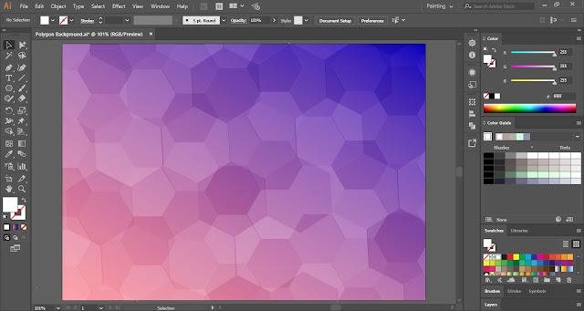 Polygon Background in Adobe Illustrator