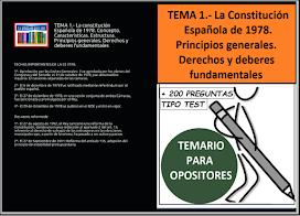 Tema 1 la constitución española de 1978 estructura y contenido, características, título preliminar principios generales y Título I derechos y deberes fundamentales