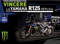Logo Con Monster vinci la moto Replica Yamaha R 125 : come partecipare !