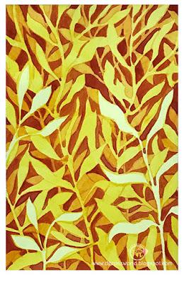 Leaves-NegativePainting-HuesnShades