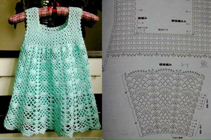 Vestido De Crochê Infantil Com Gráficos Passo A Passo