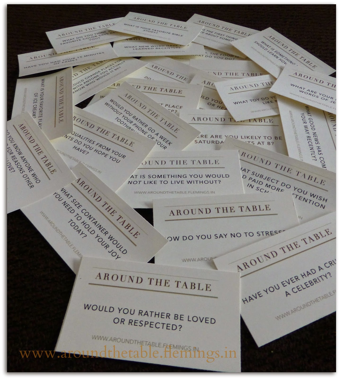 Around the Table Book: 60 Printable Conversation Starters