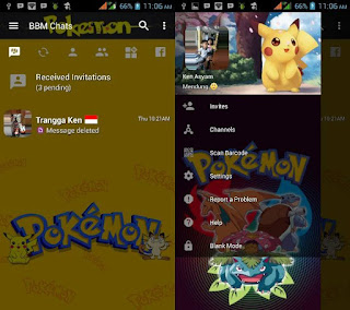 BBM Mod Pokemon Pikachu v3.2.5.12 Apk Gratis Terbaru