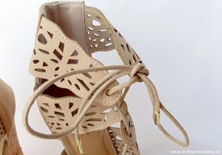 Fashion: Justfab - Cutout Keilabsatz Heels Nude - www.annitschkasblog.de