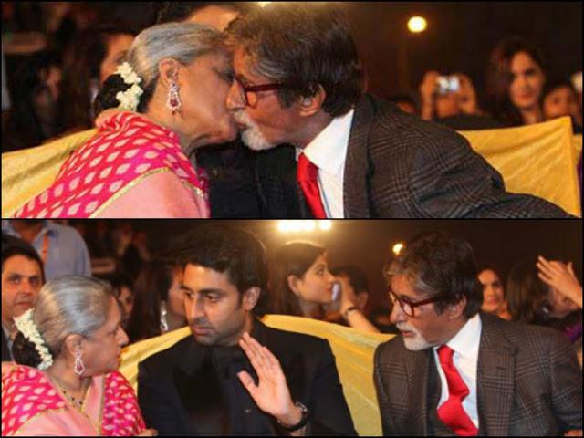 Amitabh Bachchan and Jaya Bachchan Spotted Kissing in public