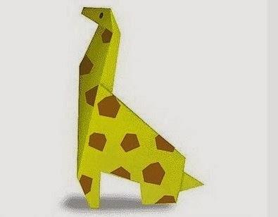 Origami Kağıttan Zürafa Yapımı