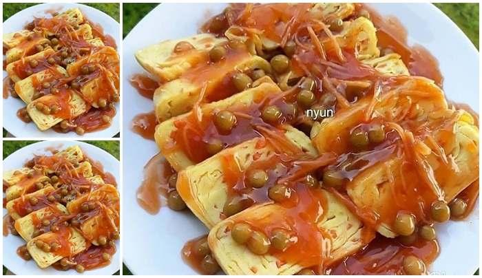 Resep Telur Dadar Gulung Saos Asam Manis, Kreasi Masakan Telur yang Ga  Monoton....
