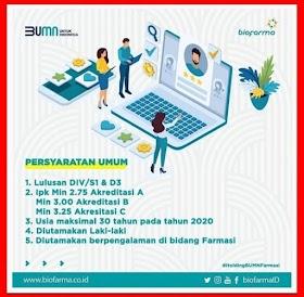 Lowongan Kerja BUMN PT Bio Farma (Persero) Tbk Semarang Juli 2020