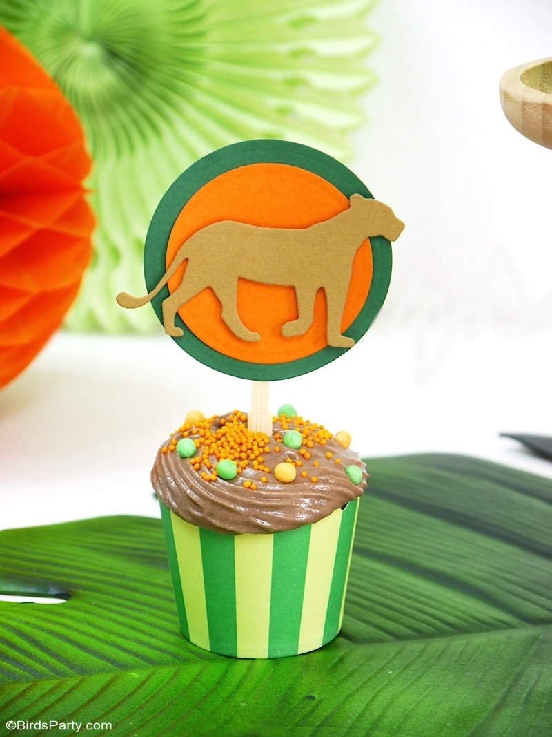 DIY Décorations de Fête d'Anniversaire Roi Lion - idées et projets faciles à faire avec Sizzix pour une fête de la jungle ou mariage tropical. by BirdsParty.com @birdsparty #sizzix #diy #anniversaire #decorations anniversaire #roilion #fetejungle #mariagetropical #feteroilion #anniversairejungle