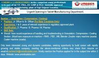 D. Pharma / B. Pharma / M. Pharma Urgent Opening in Tablet Manufacturing Department in Umedica Laboratories Pvt. Ltd, Gujarat