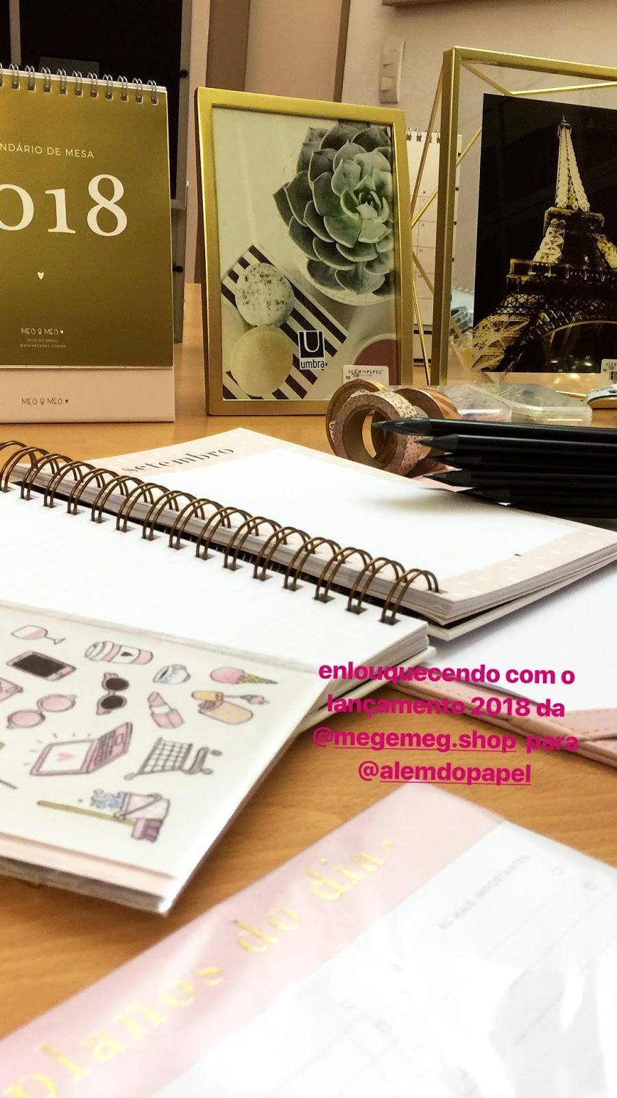 instastories save evento lançamento coleção de planners 2018 da Meg & Meg para Além do Papel em Curitiba/PR