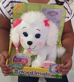 Белый пудель игрушка Adoptimals