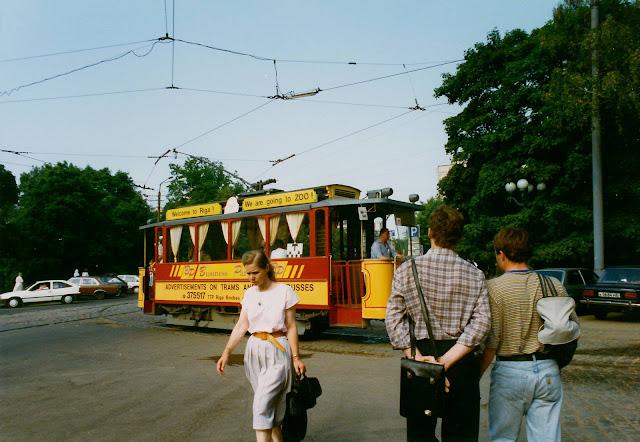 Август 1994 года. Рига. Ретро-трамвай