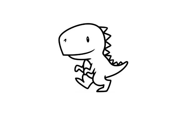 dibujos faciles dibujar dinosaurios