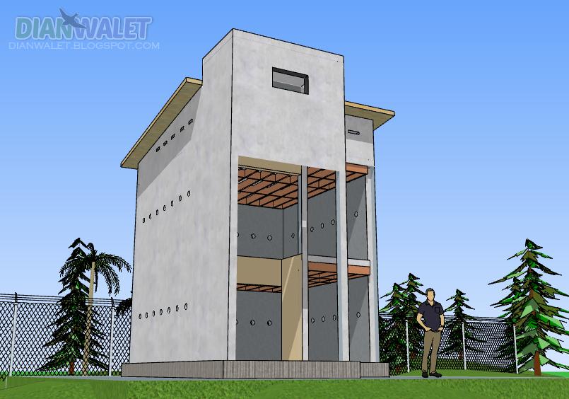 66+ Gambar Desain Rumah Walet Ukuran Kecil Terbaik Download