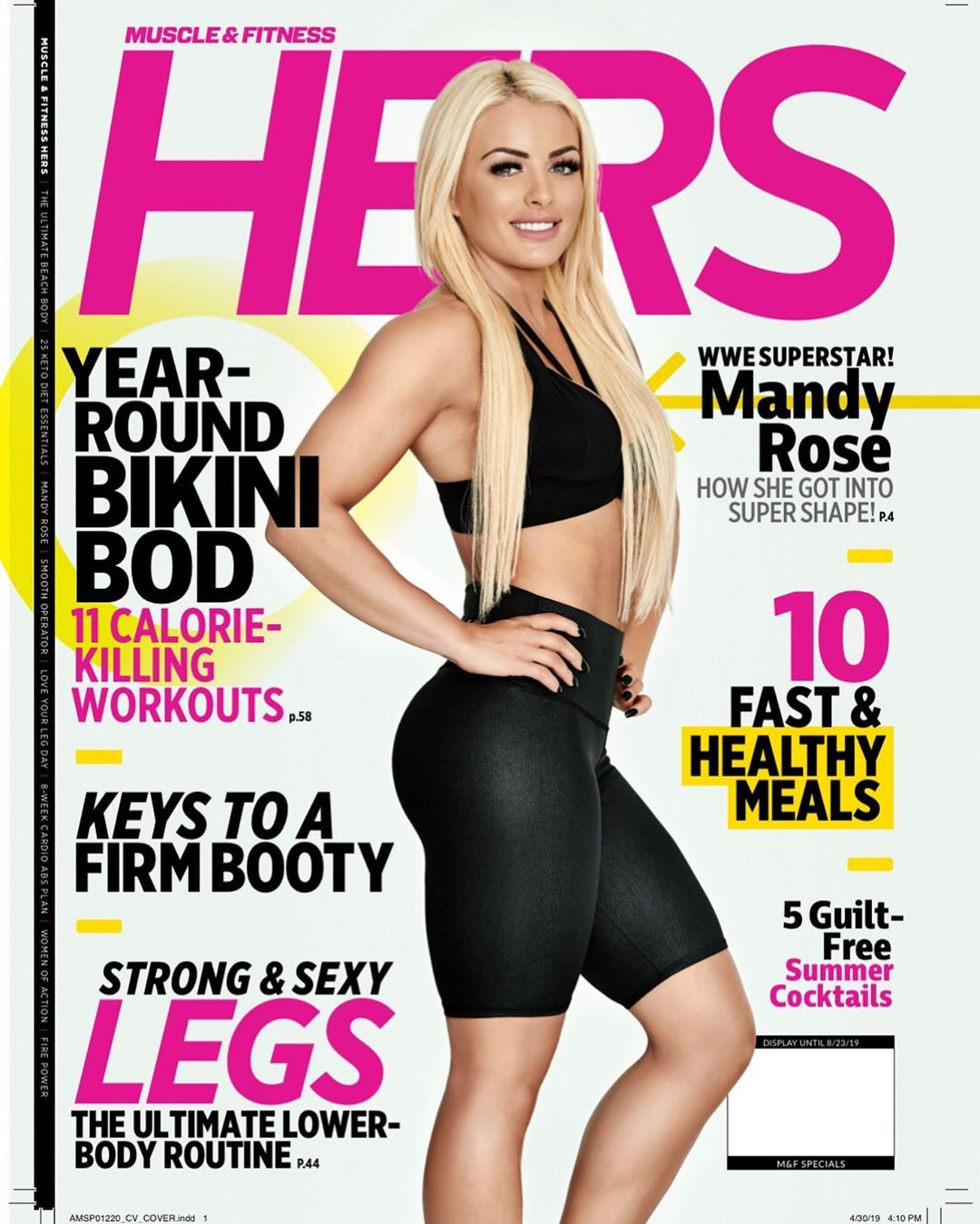 "Mandy Rose featured in ""Muscle & Fitness Hers"" Magazine"