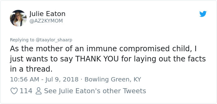 Woman Began A Powerful Thread On Twitter To Raise Awareness About Vaccines