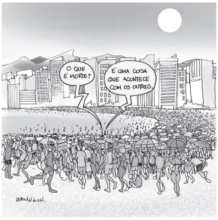 UNIFOR 2021: O emprego das formas verbais na charge denota