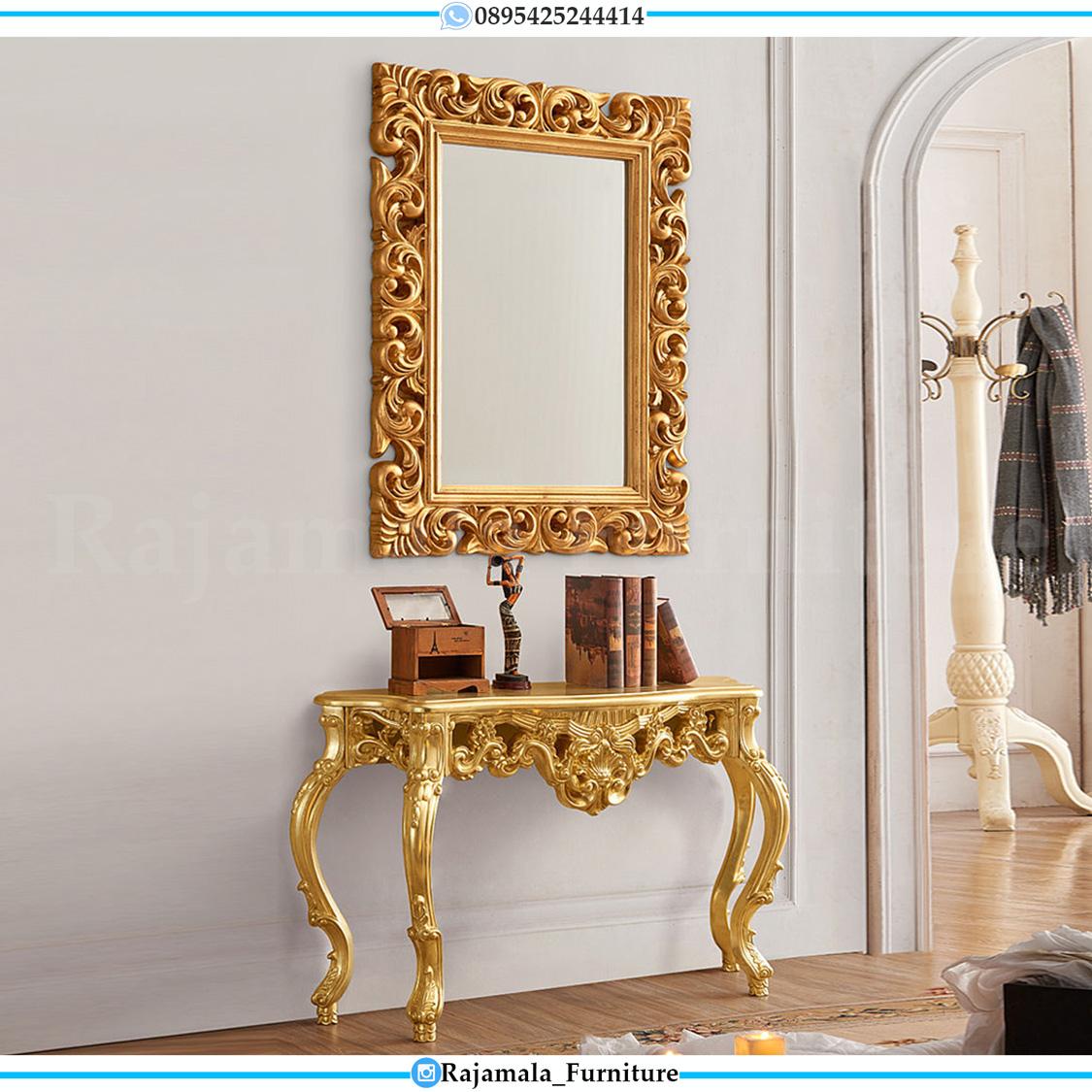 Promo Terbaru Meja Konsul Mewah Jepara Luxury Golden Glossy Color RM-0283