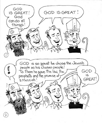 50 Days After: God is Great! Cartoon from Sword of Peter