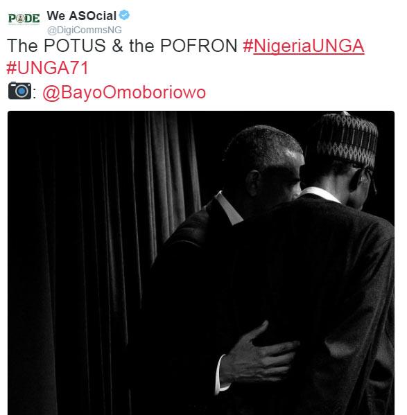 Obama is POTUS, Buhari is POFRON: Nigerians react