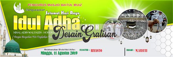DESAIN GRATISAN SPANDUK IDUL ADHA 2019