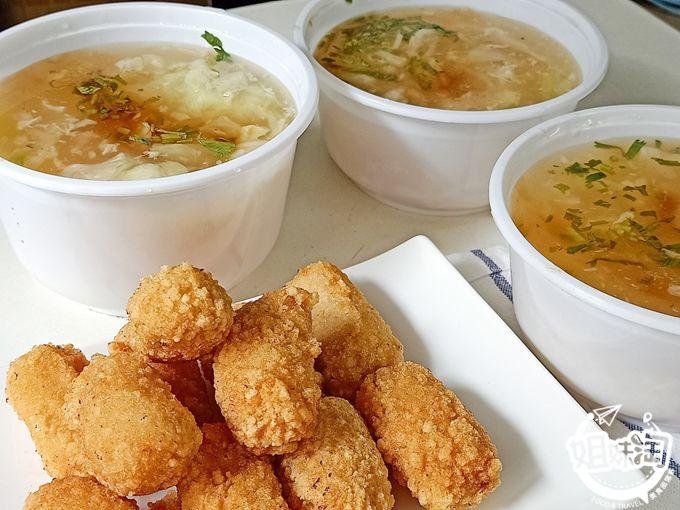 美食街裡的頭號選擇,金黃外皮,夠鱻的土魠魚羹-府城土魠魚羹