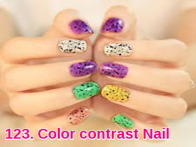 Color contrast Nail