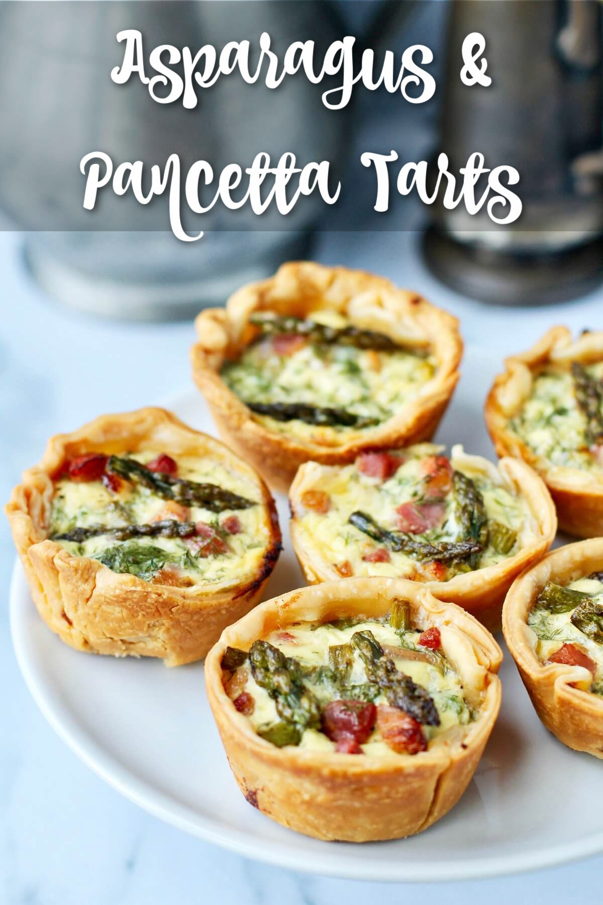 Pancetta and Asparagus Tart appetizers